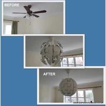 Sphere ceiling light fitting