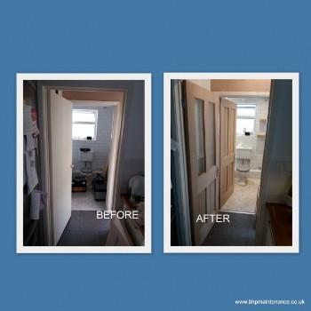 Oak doors fitted