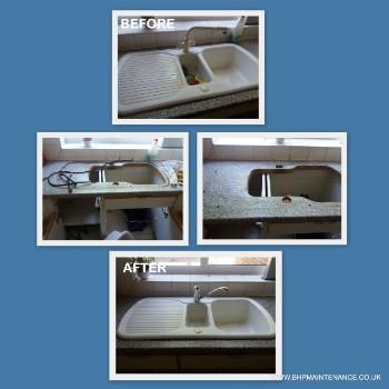Tap replacement - sink resealing