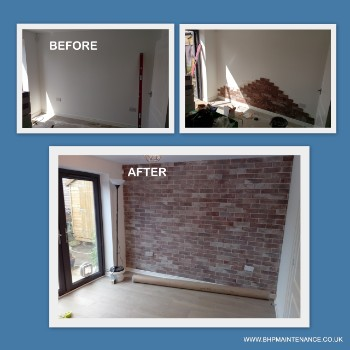 Brick tiling works
